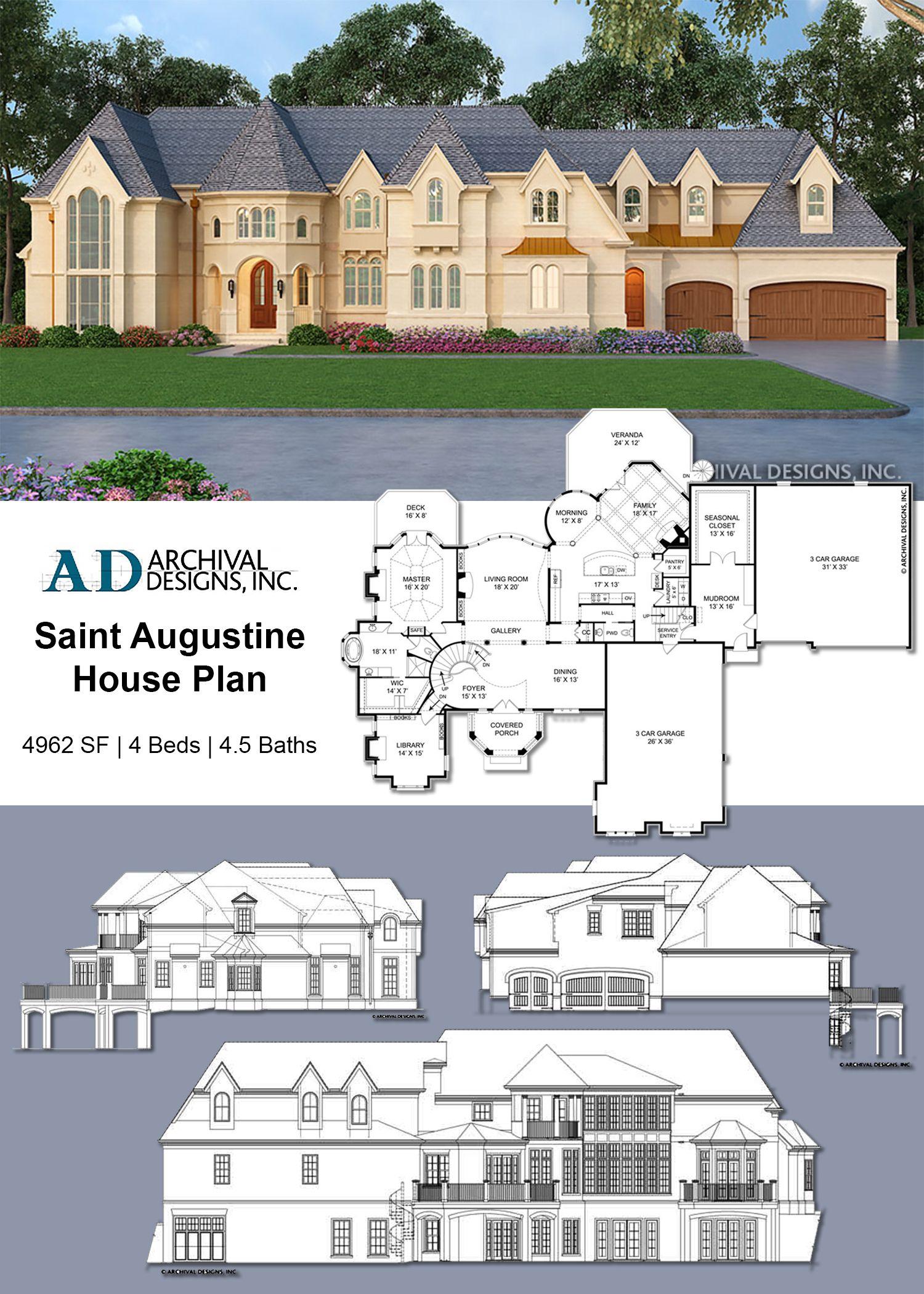Saint Augustine House Plan House Plans New House Plans House Blueprints