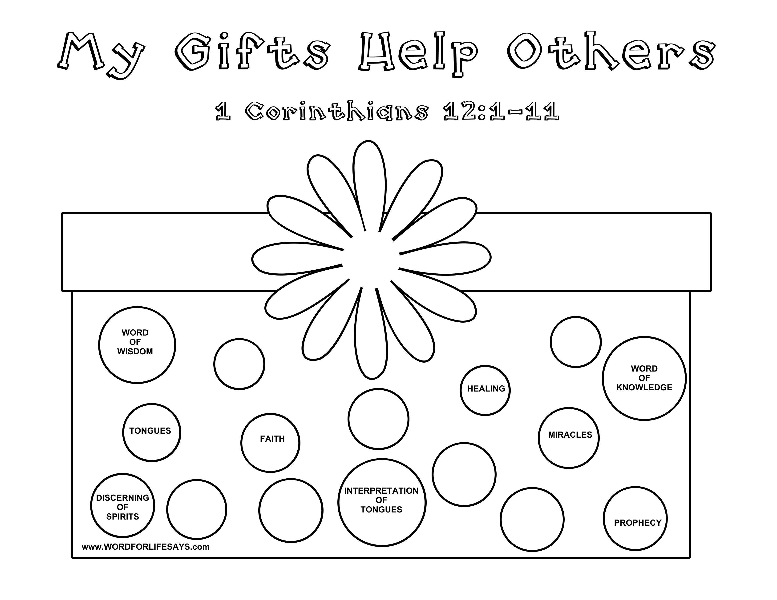 Ts Of The Spirit Sunday Lesson 1 Corinthians 12 11