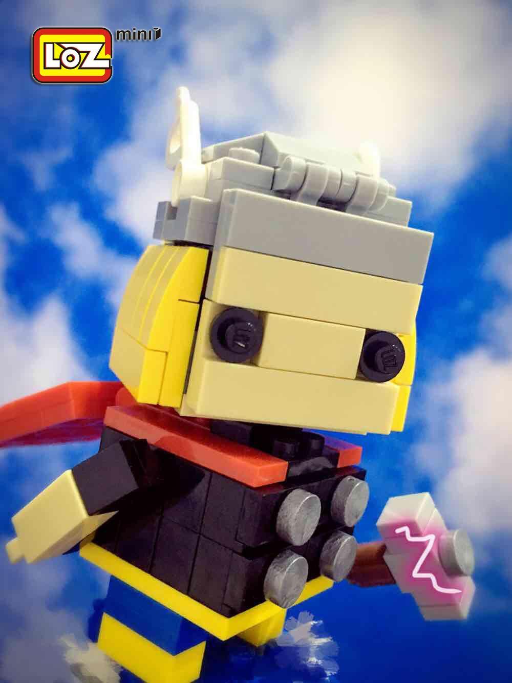 Loz mini thor in skylozblock lego miniblock toy