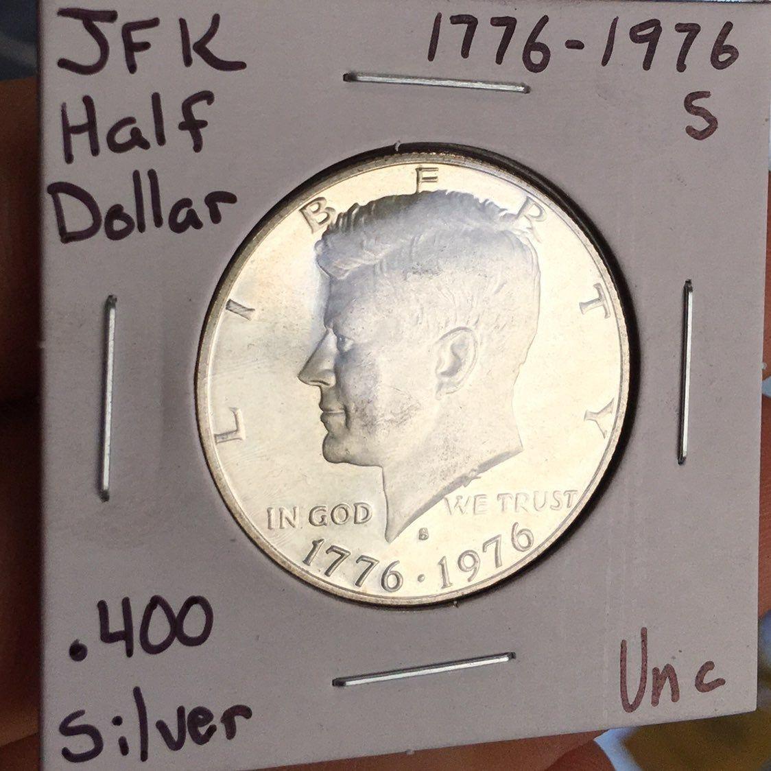 1976-D UNCIRCULATED BU KENNEDY HALF DOLLAR 20 COIN ROLL CLAD