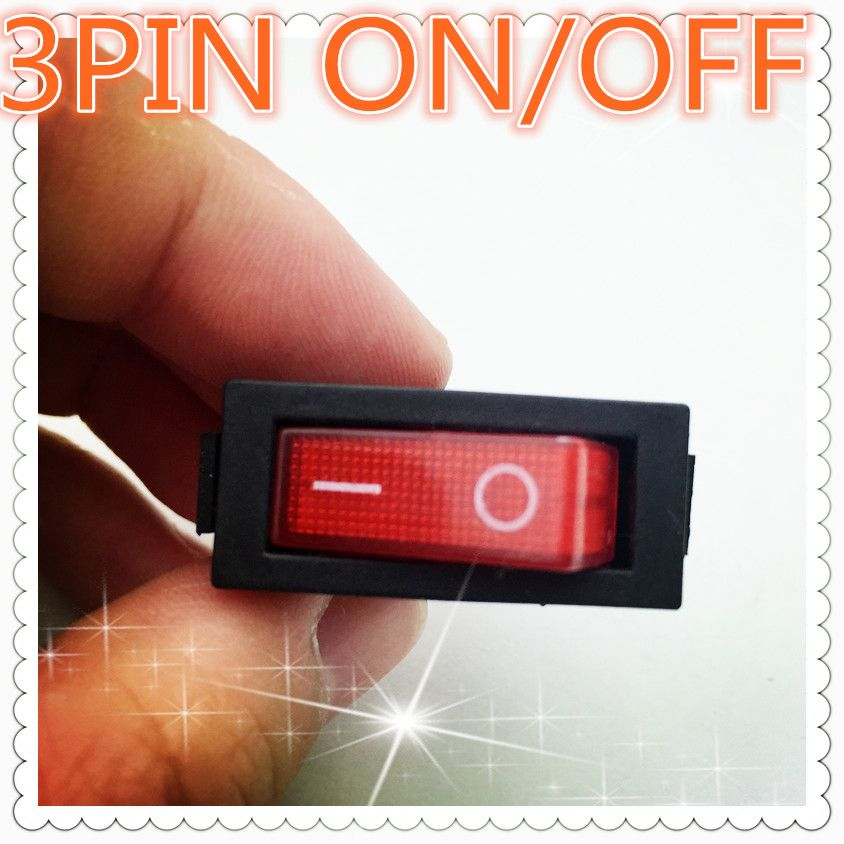 5pcs G132 Red Led Light 3pin Spst On Off Boat Rocker Switch 16a 250v 20a 125v Car Dash Dashboard Truck Rv Atv Sell At Red Led Lights Light Accessories Red Led