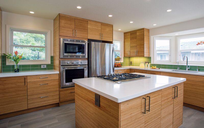 7 Anything But White Kitchen Cabinets We Love Affordable Kitchen Cabinets Bamboo Kitchen Cabinets Kitchen Cabinet Design