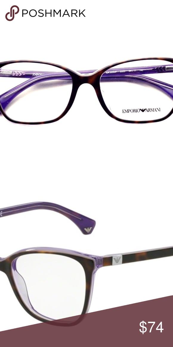 8646d63af4dd Emporio Armani Eyeglasses 3053-5353 Frame Color  Brown Gender  Women Lens  Socket Width  54 MPN EA3053 5353 Emporio Armani Accessories Glasses