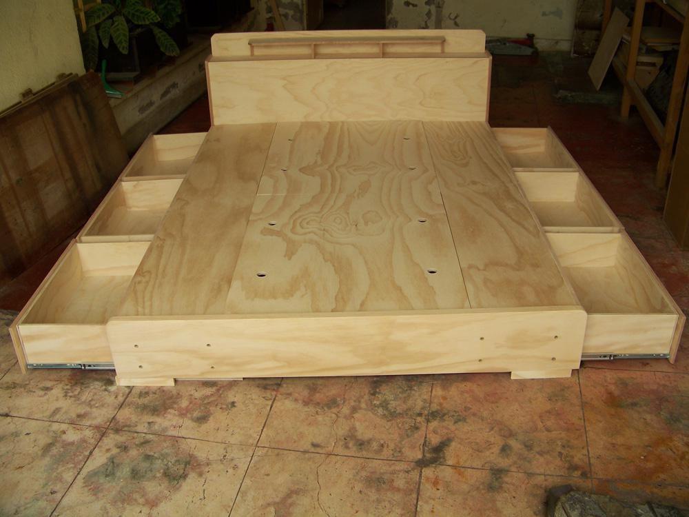 Bases para cama matrimoniales todos los tama os - Bases de camas de madera ...