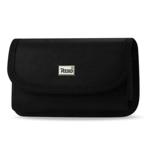 Reiko Horizontal Card Holder Rugged Pouch For Samsung Galaxy S5 / Sm-G900A/ G900V/ G900P/ G900T/ G900M/ G900R4 Plus Black