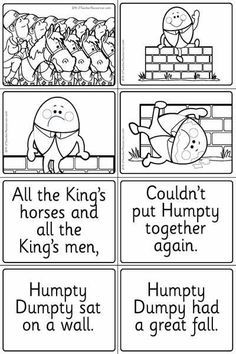 Image result for humpty dumpty sequence worksheet (With