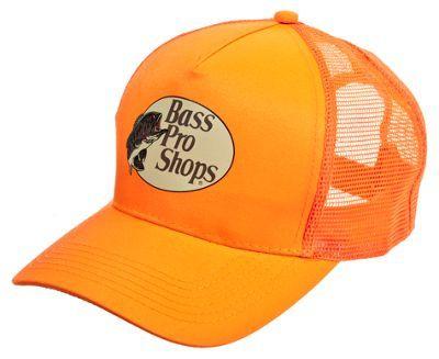9ea8944f6d6 Bass Pro Shops Mesh Back Camo Logo Cap - Blaze Orange