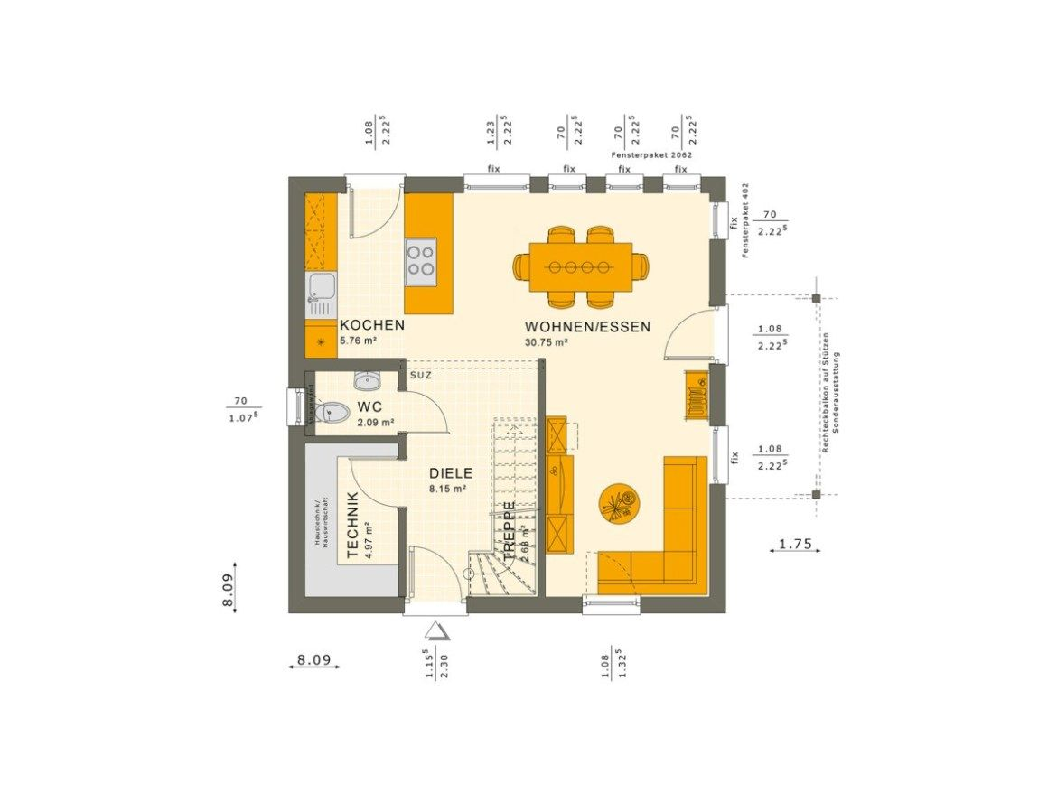 3 Bedrooms Single Family House Plan 8x8 Home Planssearch Family House Plans Family Plan House Plans