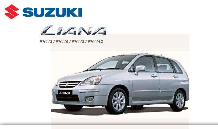 SUZUKI LIANA RH413RH416RH418RH414D FACTORY SERVICE