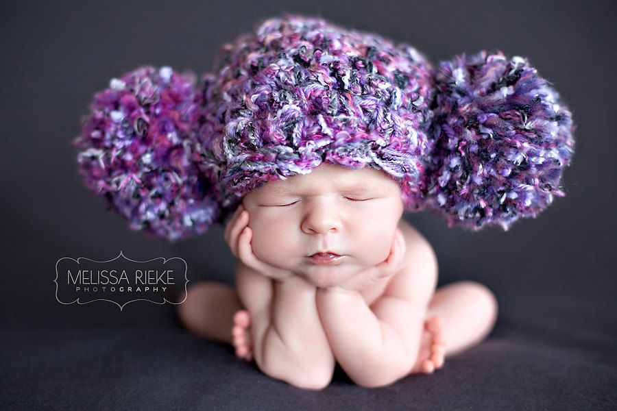 Newborn hat photography prop baby girl hat baby photo prop pom pom beanie hat props for newborn photography newborn props for photography