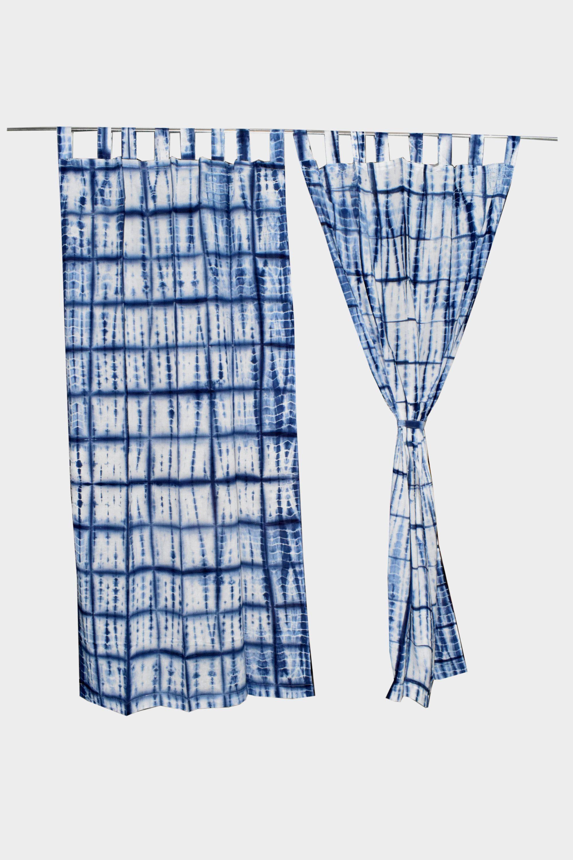 Bohemian Curtain Boho Decor Cotton Beach Curtains Blue And