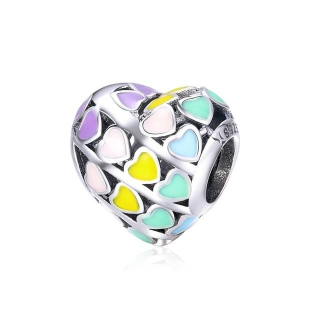 Photo of BISAER 925 Sterling Silver Mother Mom Dad Sister Heart Bead Fit Charms Silver 925 Original Bracelet Family Beads Jewelry Making – ECC902