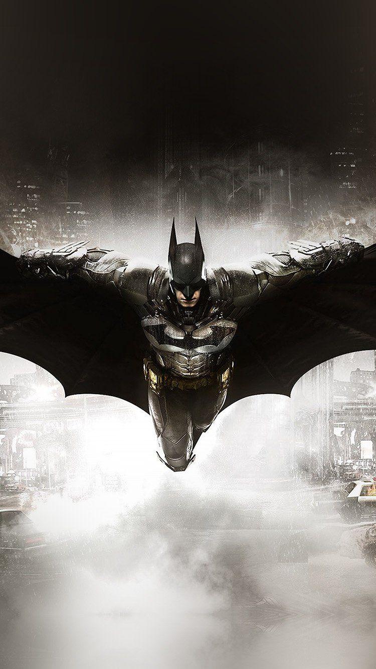 BATMAN DARK GAME HERO ART ILLUST WALLPAPER HD IPHONE