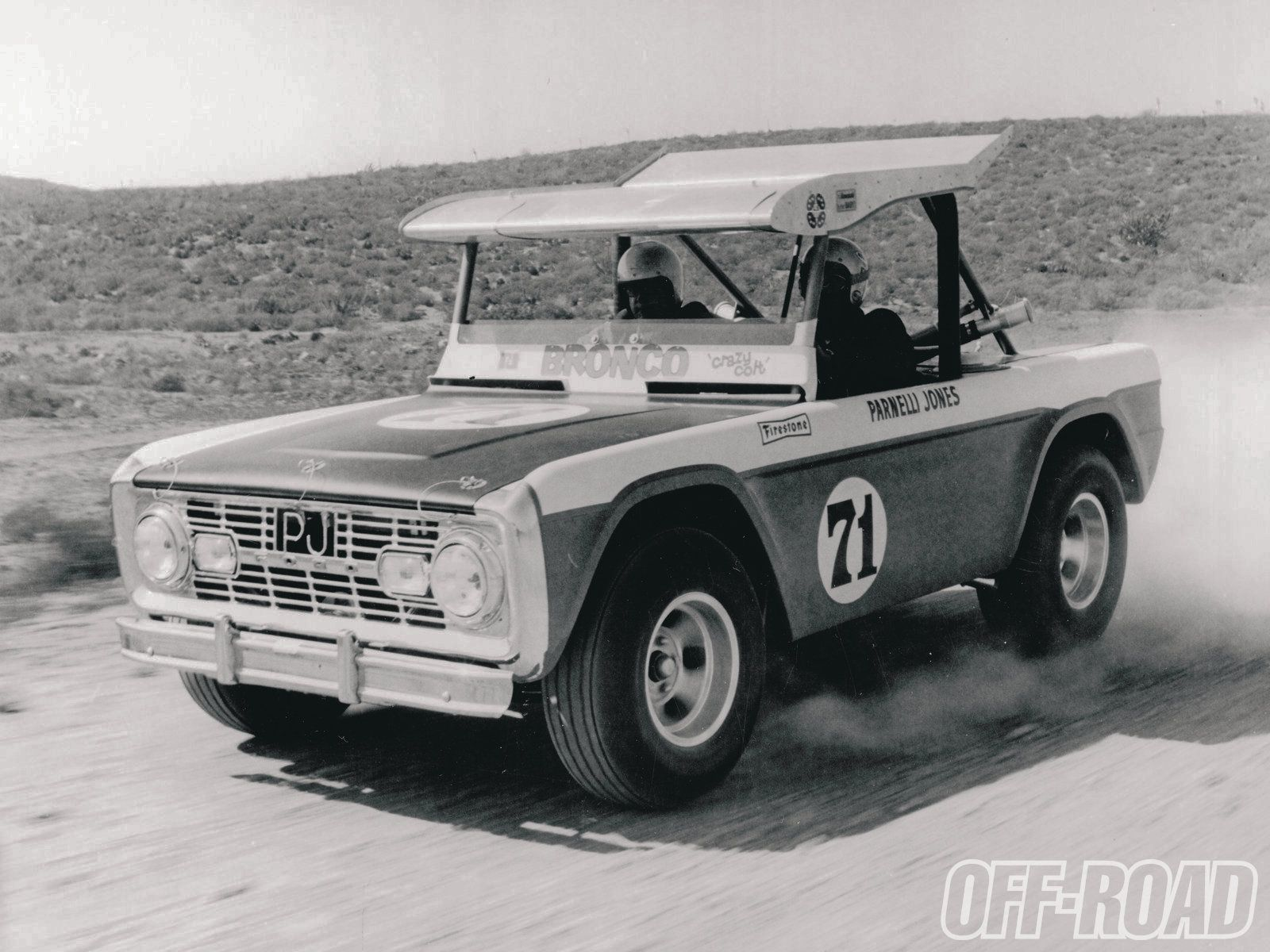 Parnelli Jones first tube frame Bronco . .the first trophy truck ...