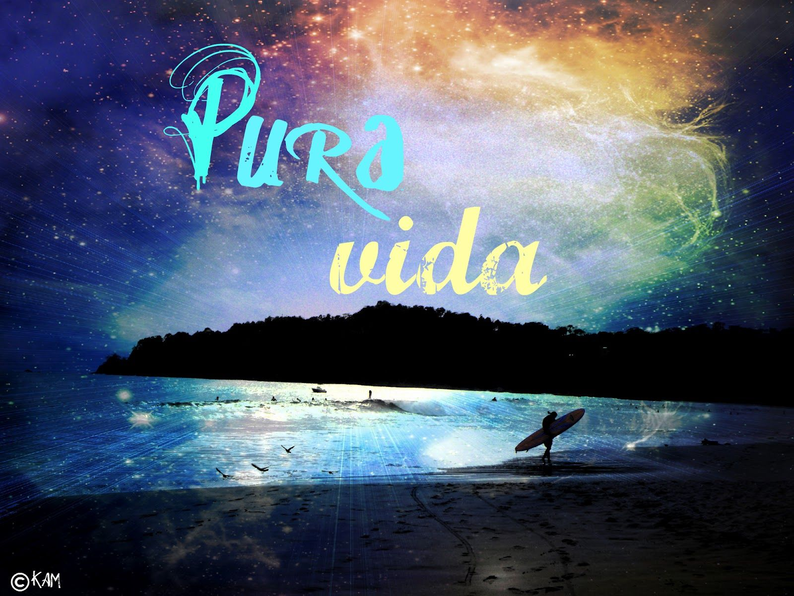 Pura Vida (pure life, the good life). I'd be sitting on this beach in Jaco, Costa Rica.