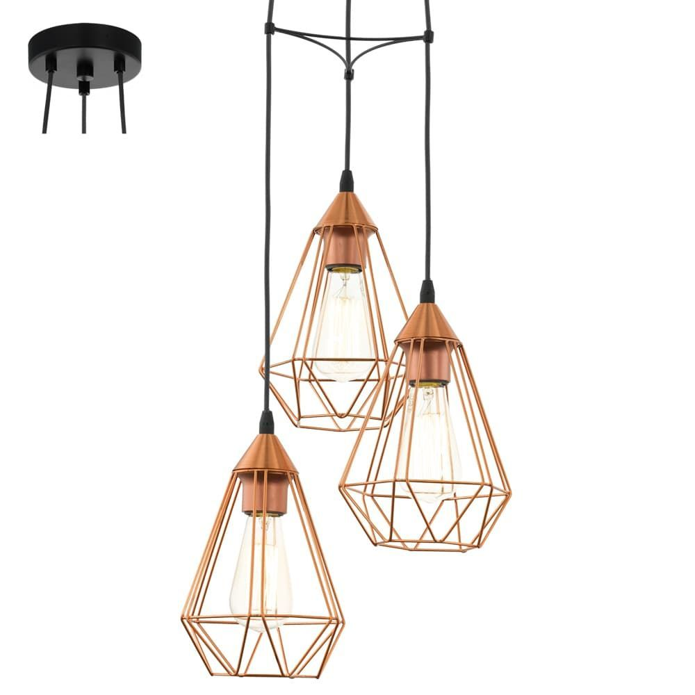 Suspension Tarbes Cuivre 3 Lampes EGLO