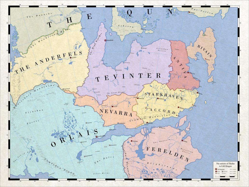 Map of Modern Thedas by firelord-zuko.deviantart.com on @DeviantArt ...