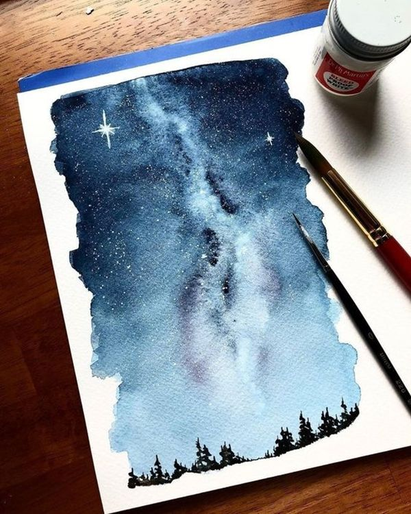 40 Super Cool Milky Way Paintings For Outerspace Lovers Galaxy