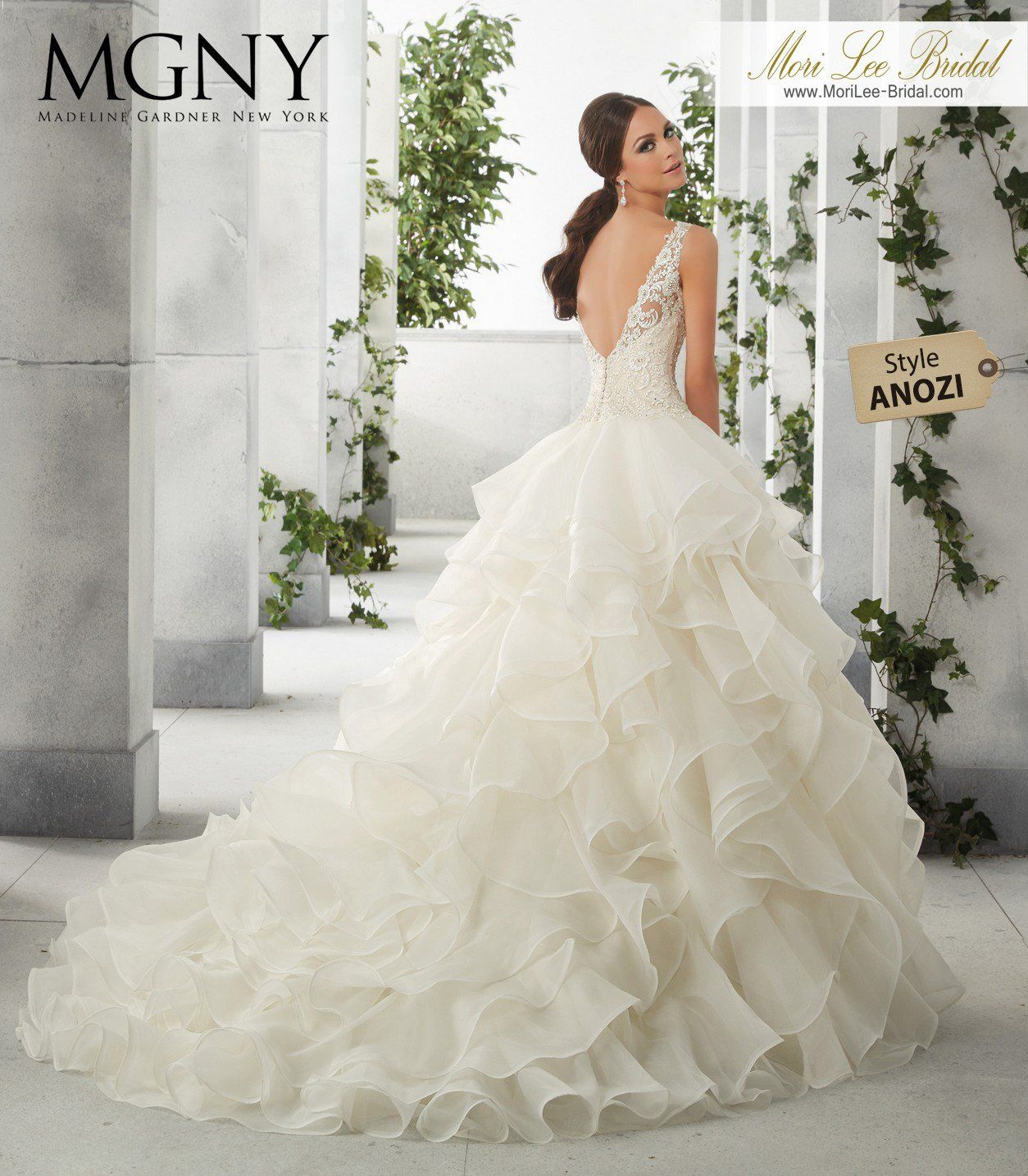 Dazzling Beaded Bodice On Flounced Tulle And Organza Ball: Wedding Gowns, Wedding Dress Organza