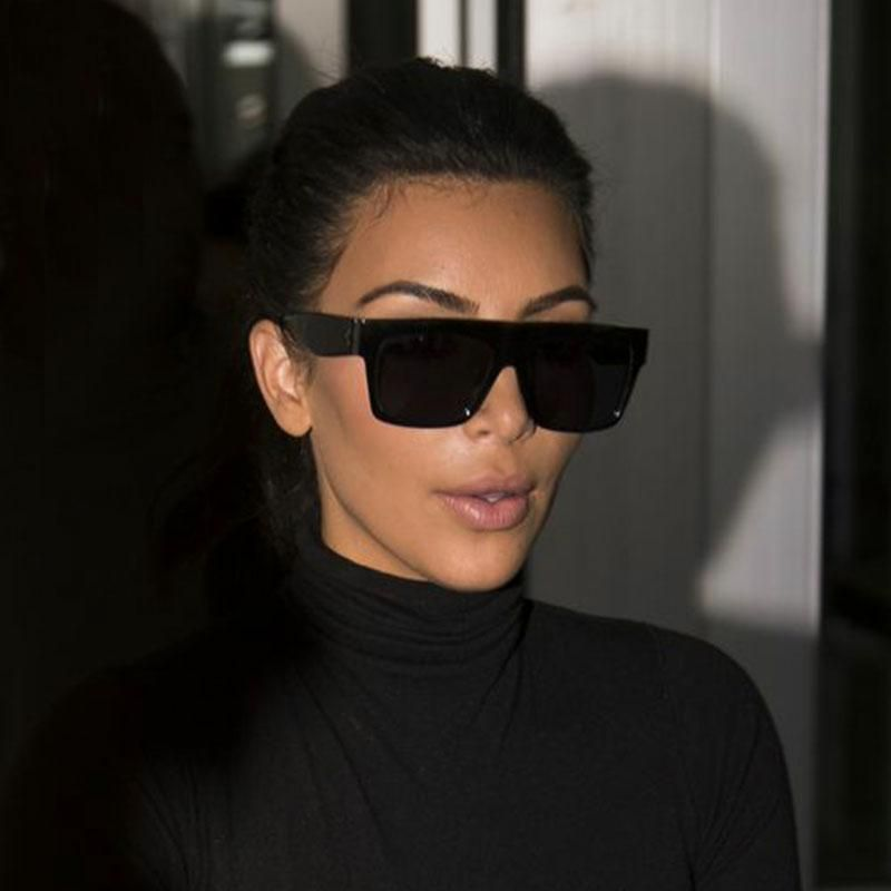 baef7678c9460 Kim Kardashian Women Sunglasses Black Genuine Design Titanium Aviator  Celine Sun  HBK  Square
