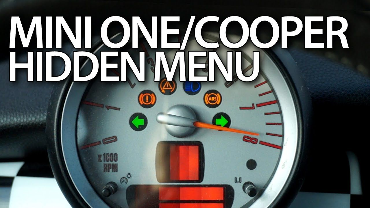 How To Enter Hidden Menu In Mini One Mini Cooper Mk1 Mini Hatch Mini Cooper Mini One Mini