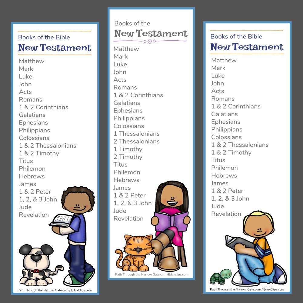 New Testament Bible Bookmarks Bible Bookmark Books Of The Bible