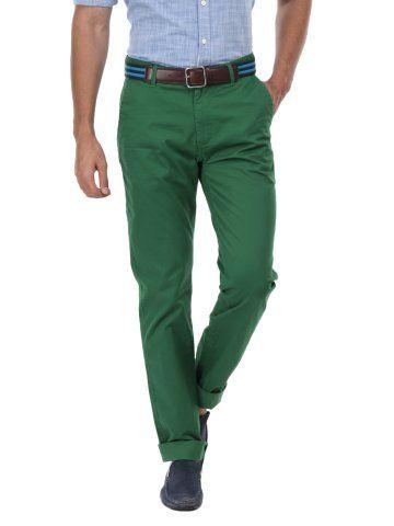 U S Polo Assn Men Dark Green Slim Fit Chino Trousers Myntra Slim Fit Chinos Chino Trousers Slim Fit