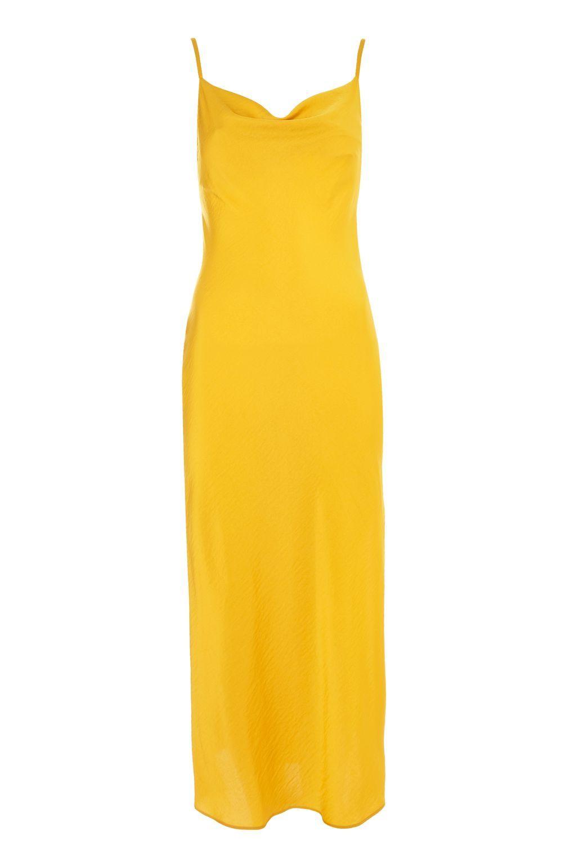 maxi 247 work girl_Cowl Satin Midi Slip Dress | Dresses, New years eve dresses, Top shop dress