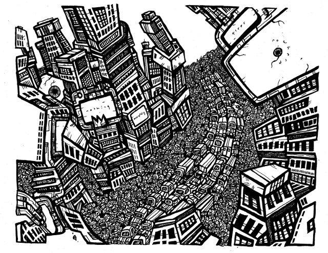 black and white illustrations surreal - Google keresés ...