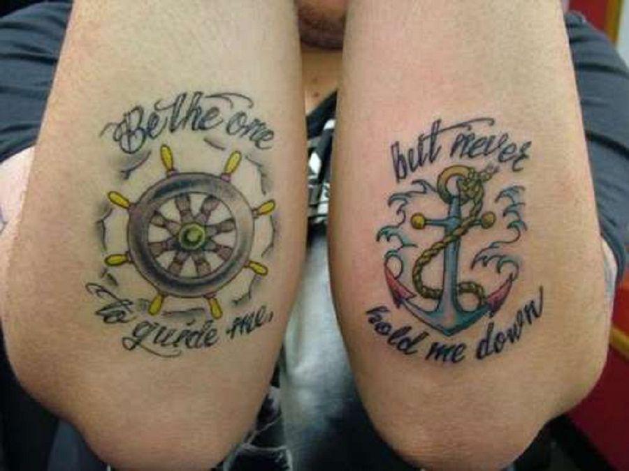 sailor jerry wheel design anchor and wheel tattoos
