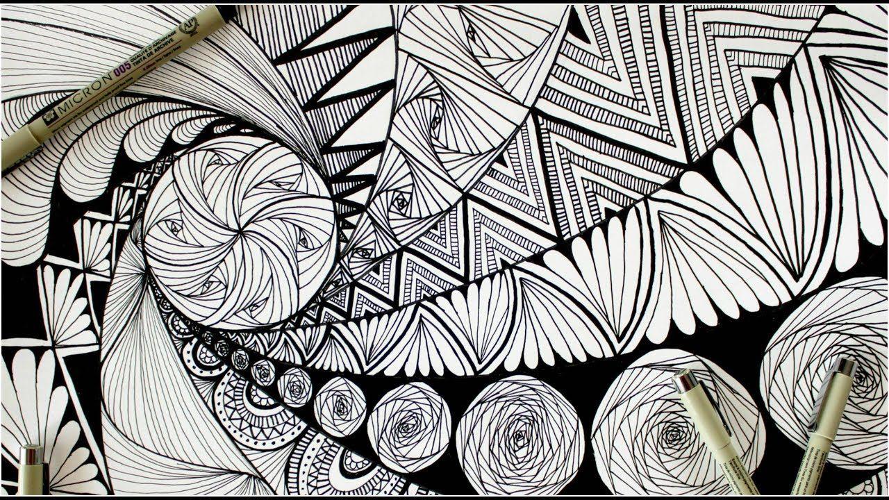 Zentangle Art Doodle Patterns Zen Doodle Easy Beginners