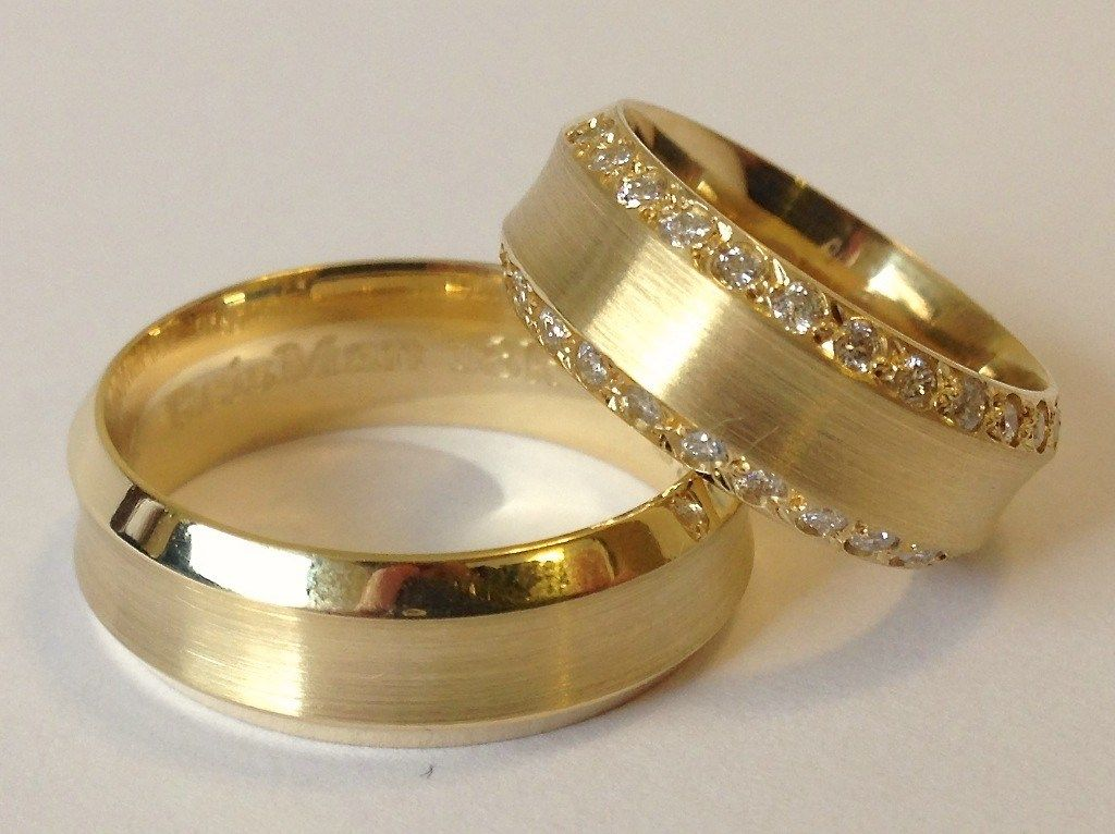 Gold Wedding Rings Engagement Rings Couple Couple Wedding Rings Gold Wedding Rings
