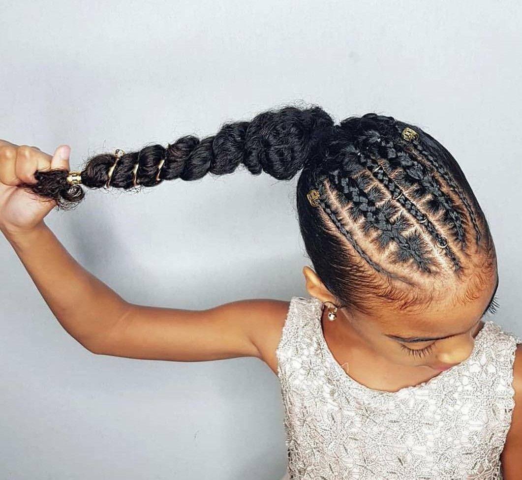 Natural Hair Natural Hair Styles Braided Ponytail Hairstyles Black Kids Hairstyles