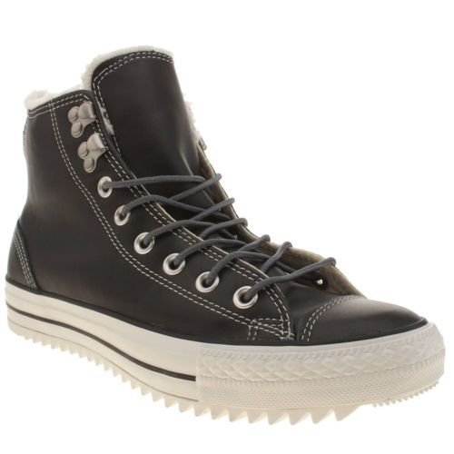 CONVERSE mens ALL STAR LEATHER HIKER HI Brown Hi top trainers