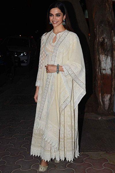 Deepika Padukone during Tamasha dinner party in Mumbai ...