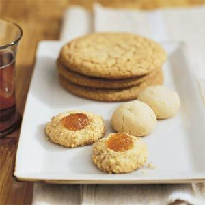 Notes: To brown the butter, cook in an 8- to 10-inch frying pan over medium heat until lightly browned, 5 to 10 minutes. Pour into a bowl and let cool to room temperature. You can store these cookies airtight for up to 5 days.