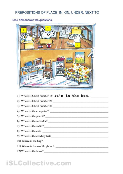 Spanish Prepositions PICTURE Notes SET by Spanish Resource Shop | TpT