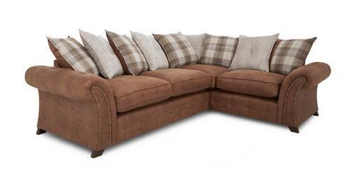 Woodland Left Hand Facing 3 Seater Pillow Back Corner Sofa Oakland | DFS