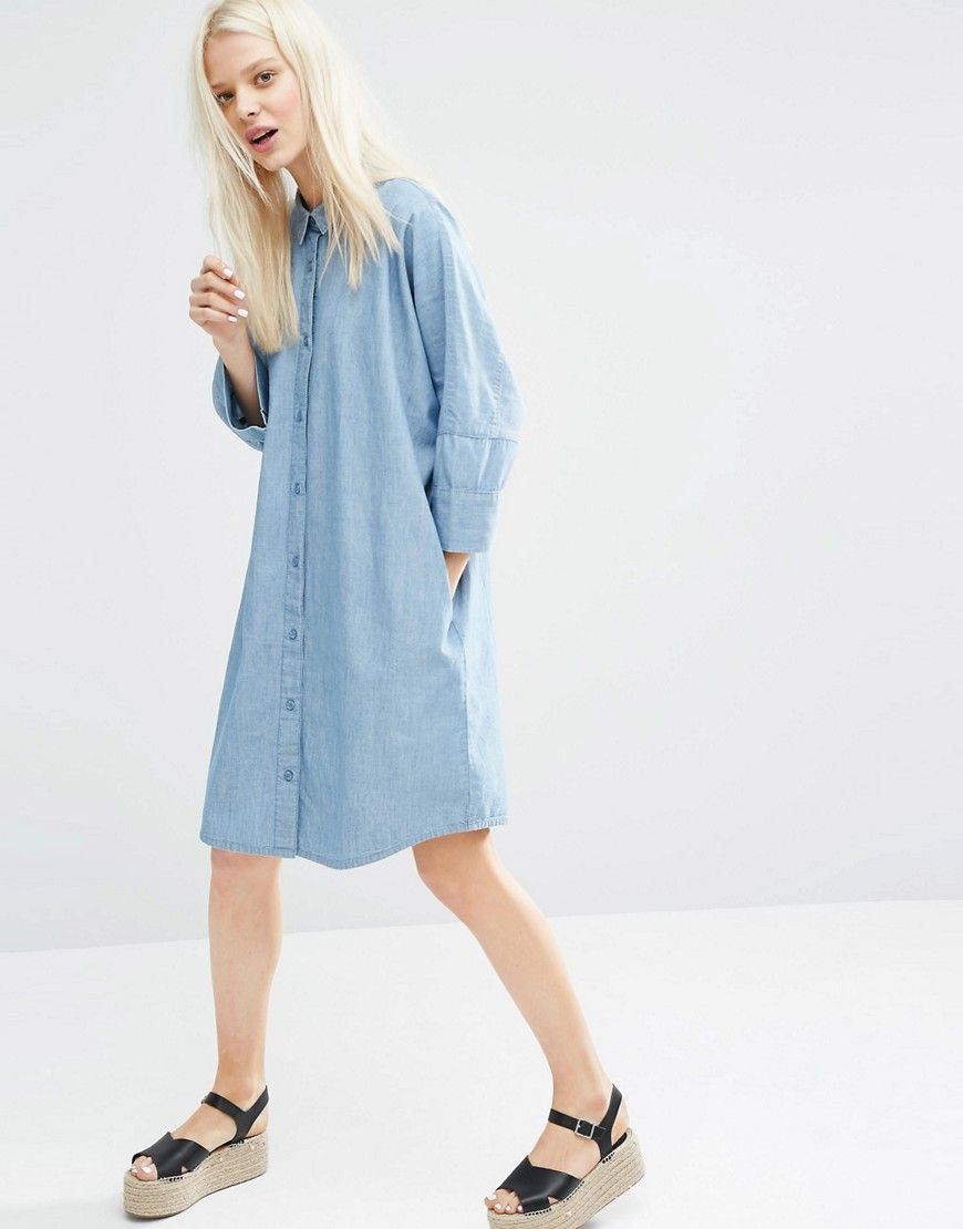 3cc4c73b009c Image 4 of Monki Oversized Denim Dress