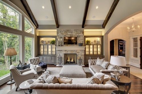 Transitional living room via susan hoffman interior designs lighter fabrics tone on tone a cross between traditional and contemporary