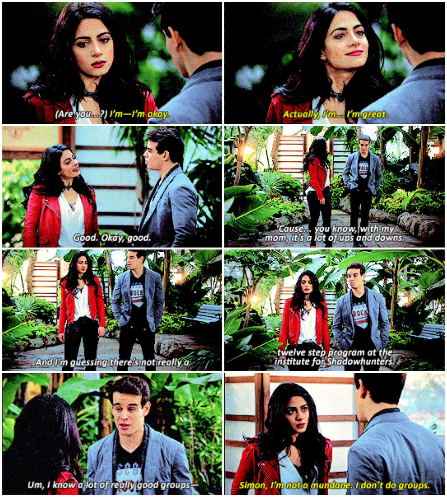"Shadowhunters 2x12 ""You Are Not Your Own"" Izzy and Simon"