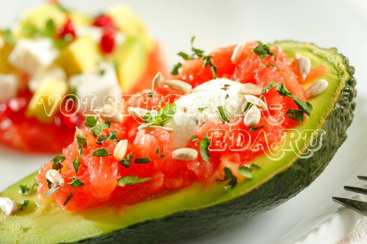 Вкусные салаты с авокадо.