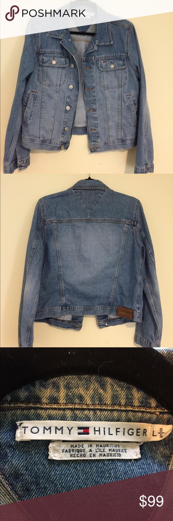 Tommy Hilfiger Vintage Denim Jacket Size Large Vintage Denim Jacket Vintage Denim Denim Jacket [ 1740 x 580 Pixel ]