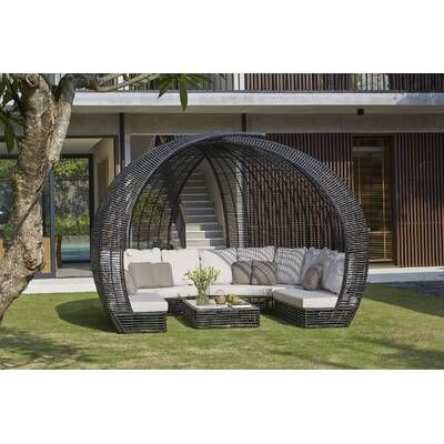 Sparta Patio Daybed with Sunbrella Cushions | Patio daybed ... on Sparta Outdoor Living id=17015