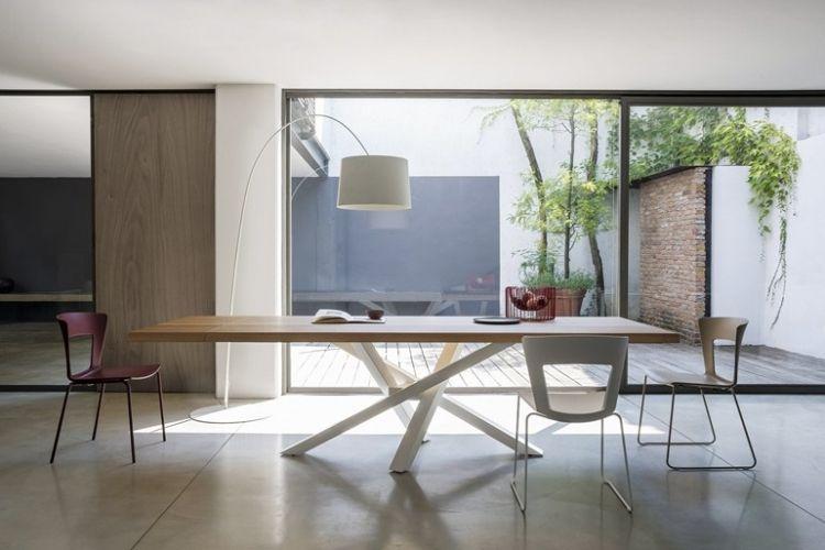 Einfach Esstisch Holz Edelstahl Sammlung Von Wohndesign Idee