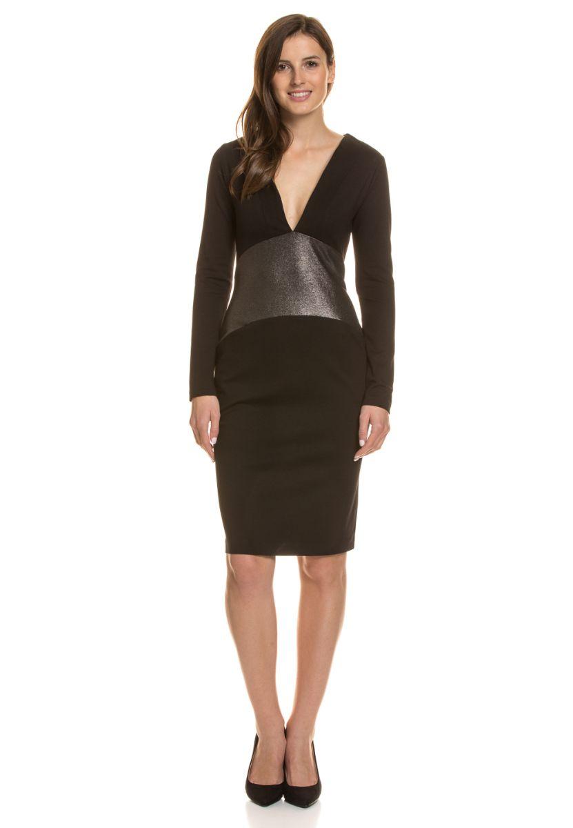 M BY Maiocci Kleid, Langarm, V-Ausschnitt schwarz Jetzt bestellen ...