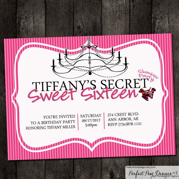 Birthday Party Invitation Pink Victoria Secret Theme Yes All