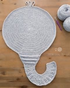 Elephant Pillow Free Crochet Pattern | 300x240