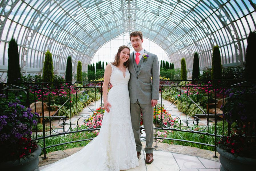 A Beautiful Como Zoo Wedding Bride And Groom In Conservatory Photo By Eileen K
