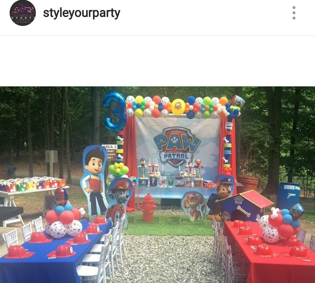 Paw Patrol Birthday Party (outdoor)